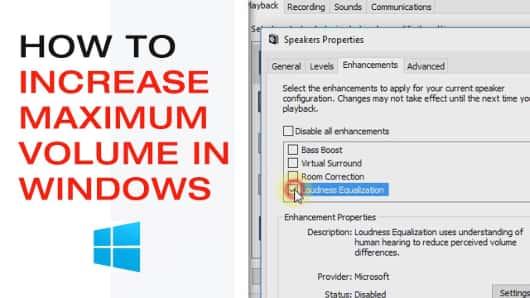 Increase Maximum Volume in windows
