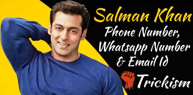 Salman Khan Phone Number & Whatsapp Number