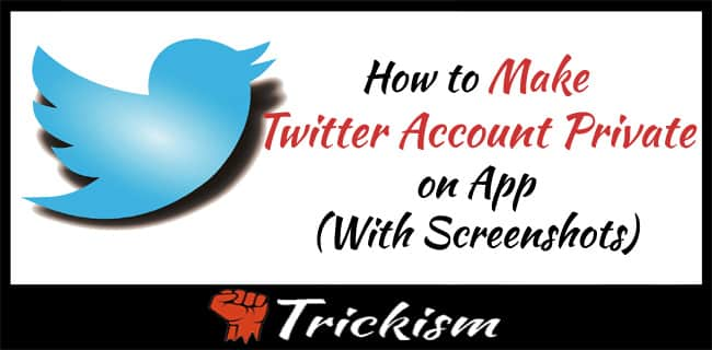 How to Make Twitter Account Private