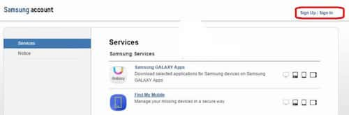 Samsung-Sign-in