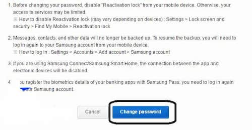 how to delete samsung account