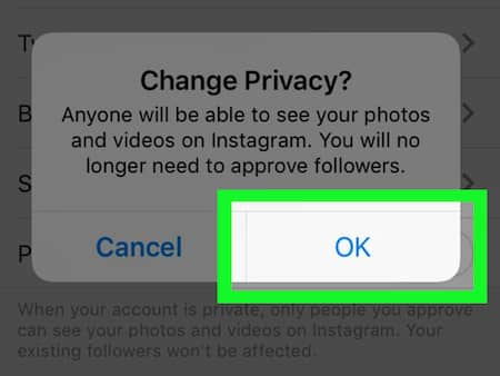 how do i make my instagram private