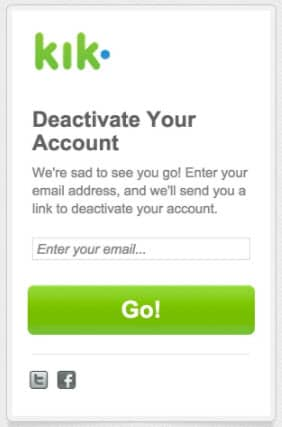 Deactive Kik Account
