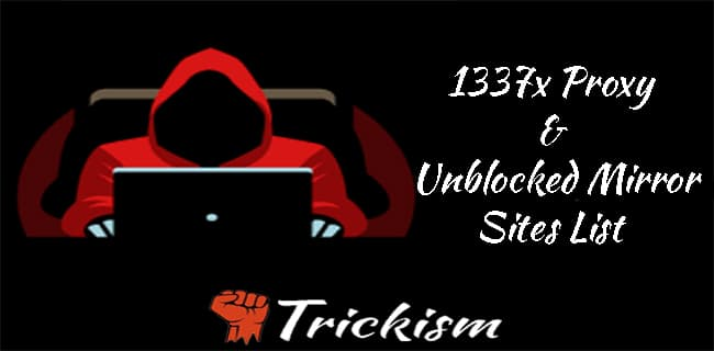 1337x Proxy sites list
