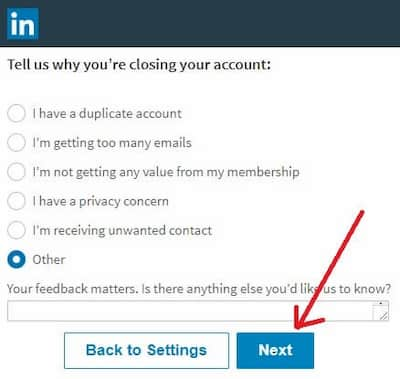 how do i delete my linkedin account