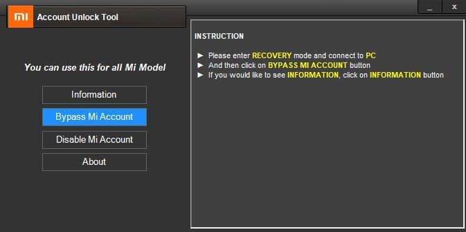 mi account unlock tool download