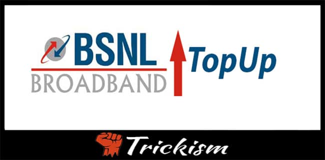 Top Up BSNL Broadband After FUP