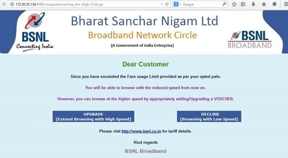 bsnl broadband plans updated