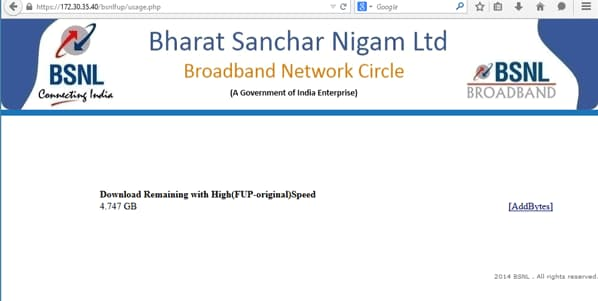bsnl broadband top up