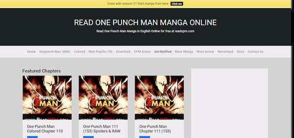sites like One Punch Man webcomics in English